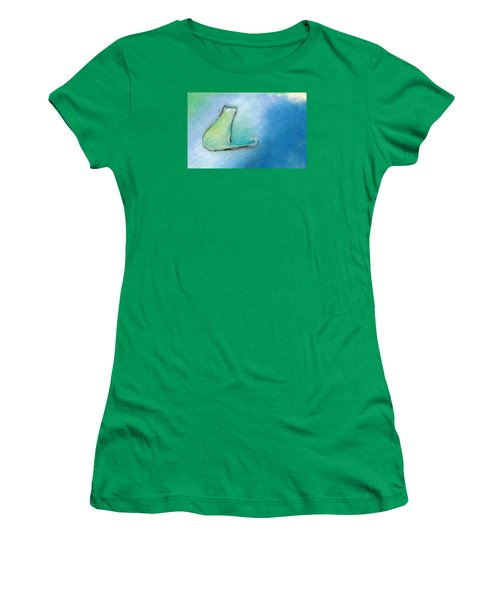 Kitty Reflects Women's T-Shirt (Junior Cut) by Valerie Reeves