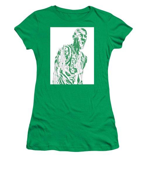 Kyrie Irving Boston Celtics Pixel Art 42 Women's T-Shirt