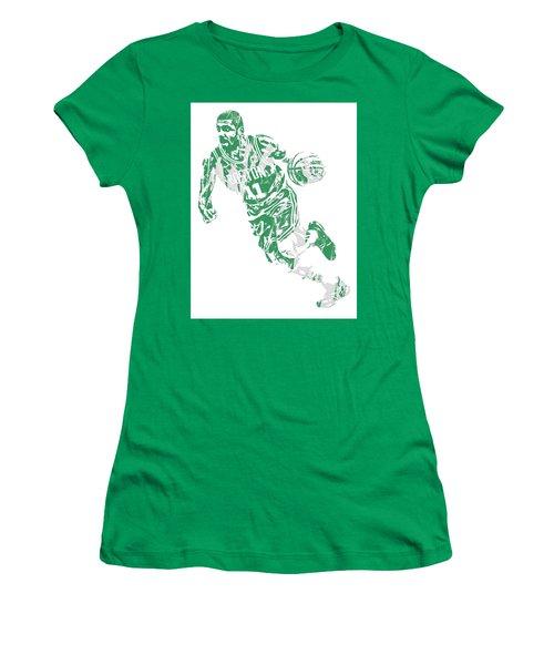 Kyrie Irving Boston Celtics Pixel Art 9 Women's T-Shirt