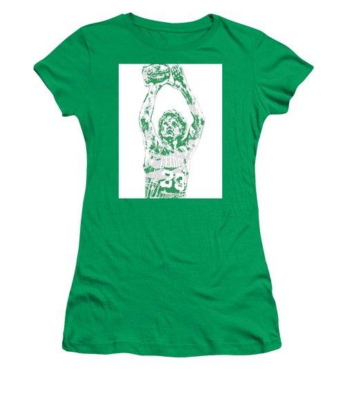 Larry Bird Boston Celtics Pixel Art 5 Women's T-Shirt