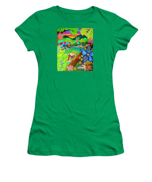 Leapin Lizards Women's T-Shirt (Athletic Fit)