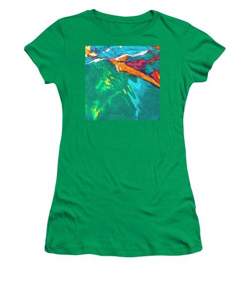 Women's T-Shirt (Junior Cut) featuring the painting Lies Beneath by Dominic Piperata