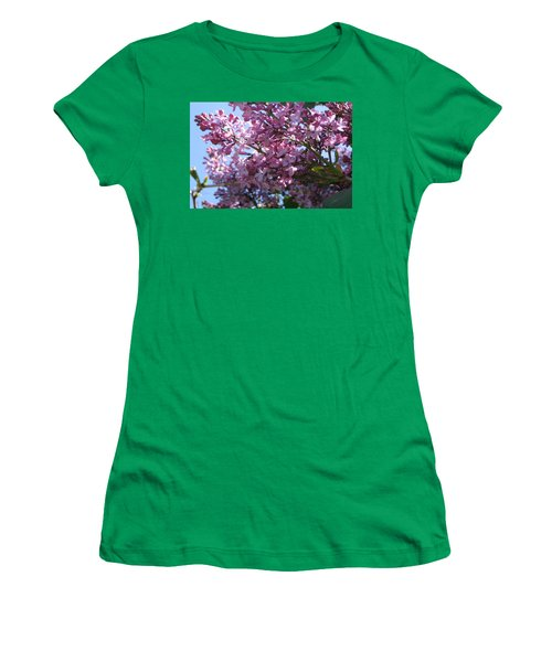 Lilacs In Bloom 2 Women's T-Shirt (Junior Cut) by Barbara Yearty