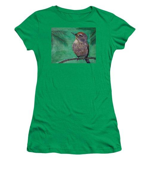 Little Warbler Women's T-Shirt (Junior Cut) by Leslie Allen