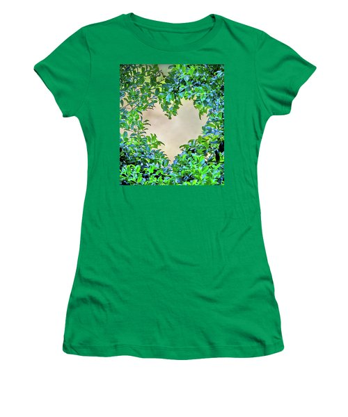 Love Leaves Women's T-Shirt (Junior Cut) by Az Jackson