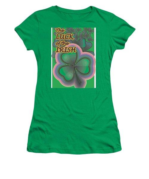 Luck Of The Irish Women's T-Shirt (Junior Cut) by Sherril Porter