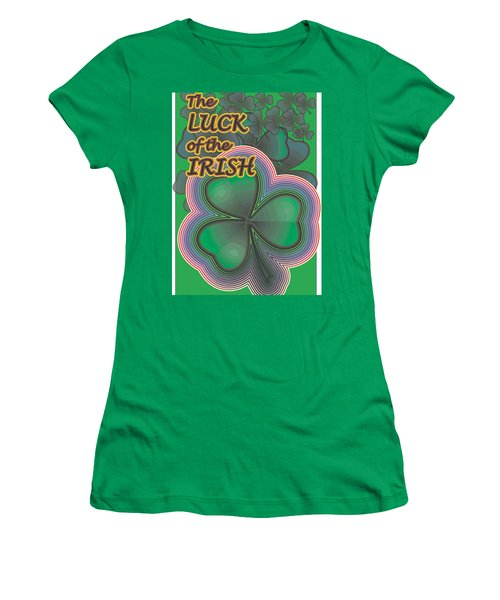 Luck Of The Irish Women's T-Shirt (Athletic Fit)