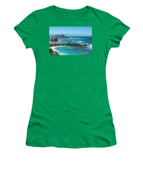 Magic Island To Diamond Head Women's T-Shirt (Athletic Fit)