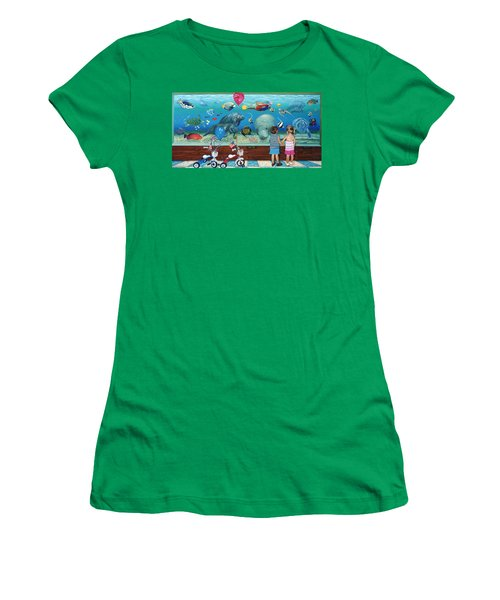 Manitee Aquarium With My Twins Women's T-Shirt