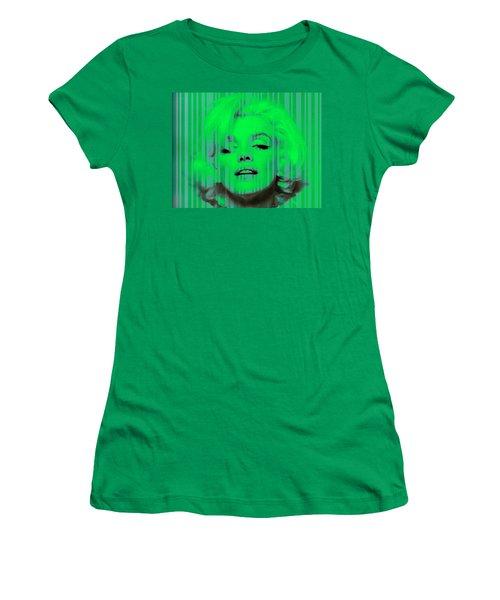 Marilyn Monroe In Green Women's T-Shirt (Junior Cut) by Kim Gauge