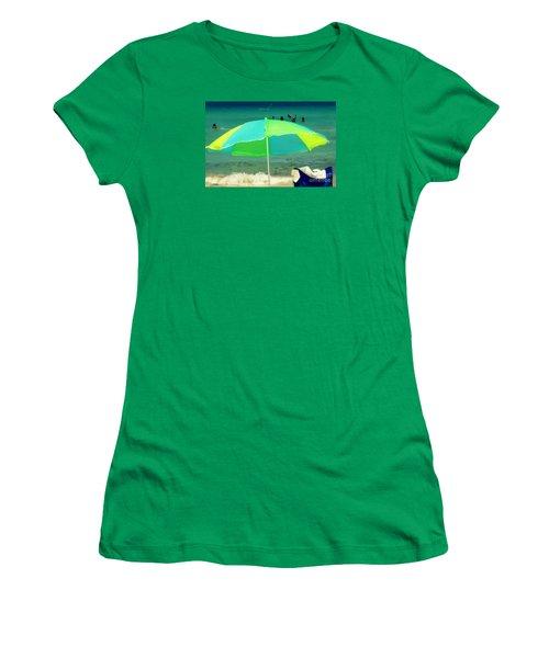 Miami Beach 3 Women's T-Shirt (Junior Cut) by France Laliberte