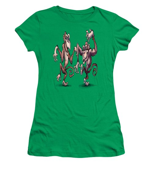 Monkey Dance Women's T-Shirt (Athletic Fit)