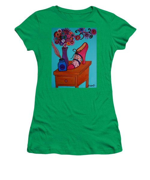 Women's T-Shirt (Junior Cut) featuring the painting My Love by Pristine Cartera Turkus
