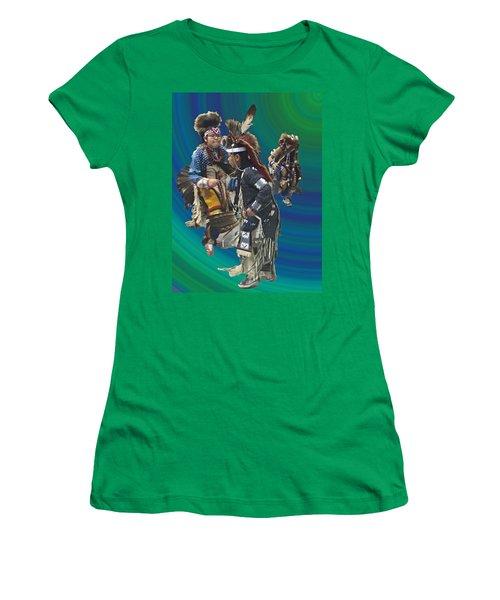 Native Children Entrance Women's T-Shirt (Junior Cut) by Audrey Robillard