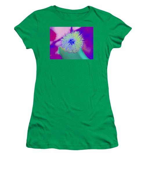 Neon Green Puff Explosion Women's T-Shirt (Junior Cut) by Samantha Thome