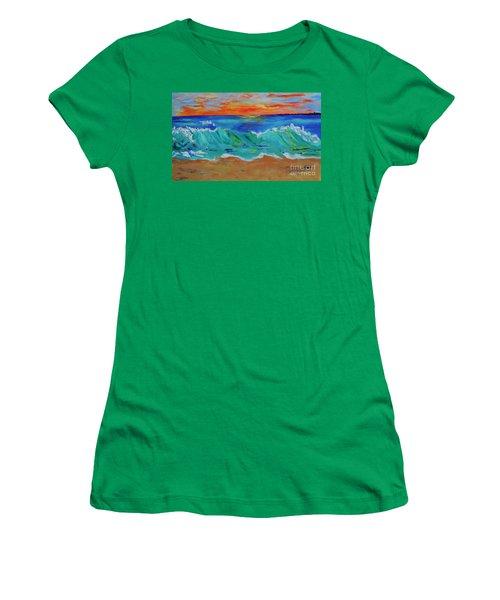 Ocean Sunset Women's T-Shirt (Athletic Fit)