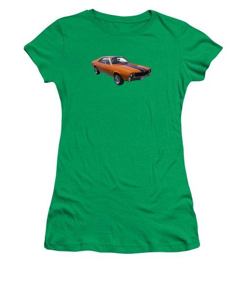 Orange 1969 Amc Javlin Car Women's T-Shirt