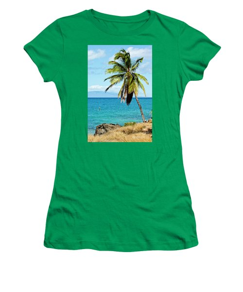 Women's T-Shirt (Junior Cut) featuring the photograph Palms On Hawaiian Beach 12 by Micah May