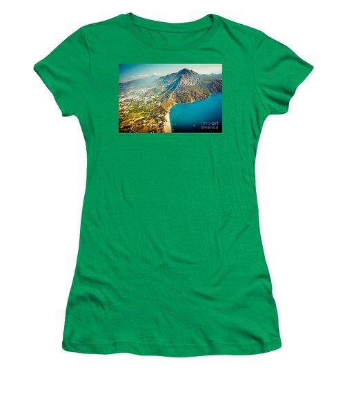 Paragliding Fly Above Laguna Artmif.lv Women's T-Shirt