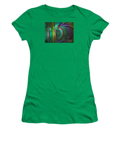 Penetrated By Life - Abstract Art Women's T-Shirt (Athletic Fit)