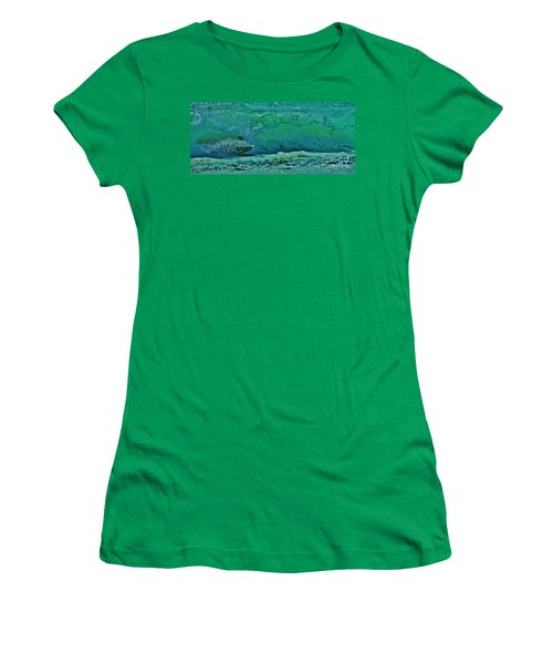 Women's T-Shirt (Junior Cut) featuring the photograph Playing In The Shore Break by Craig Wood