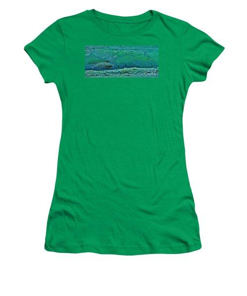 Playing In The Shore Break Women's T-Shirt (Junior Cut) by Craig Wood