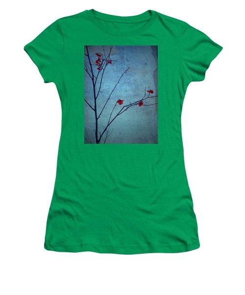 Red Berries Blue Sky Women's T-Shirt
