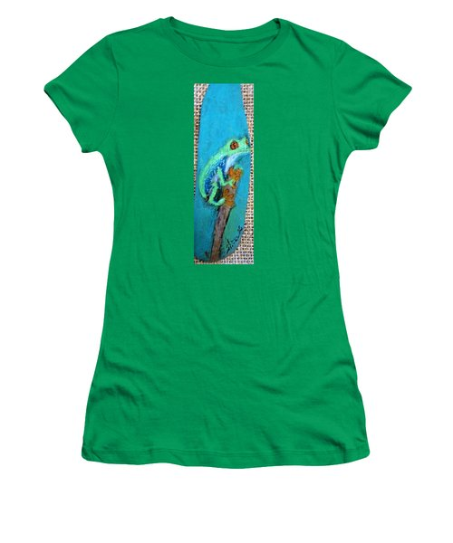 Red-eyed Tree Frog Women's T-Shirt (Athletic Fit)