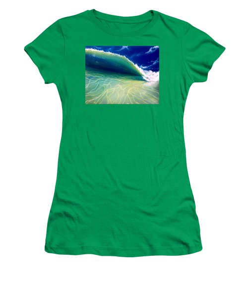 Women's T-Shirt (Junior Cut) featuring the painting Reflections by Dawn Harrell