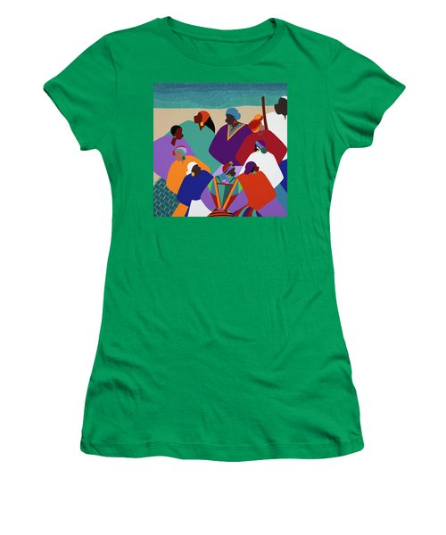 Ring Shout Gullah Islands Women's T-Shirt (Athletic Fit)