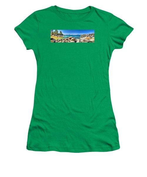 Rocky Cove Sand Harbor Women's T-Shirt (Junior Cut) by Jason Abando