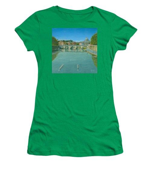 Rowing On The Tiber Rome Women's T-Shirt
