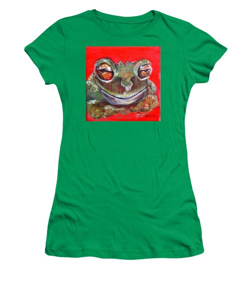 Satisfied Froggy  Women's T-Shirt (Athletic Fit)