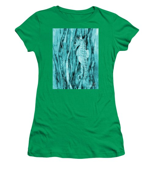Seahorse On Blue Women's T-Shirt