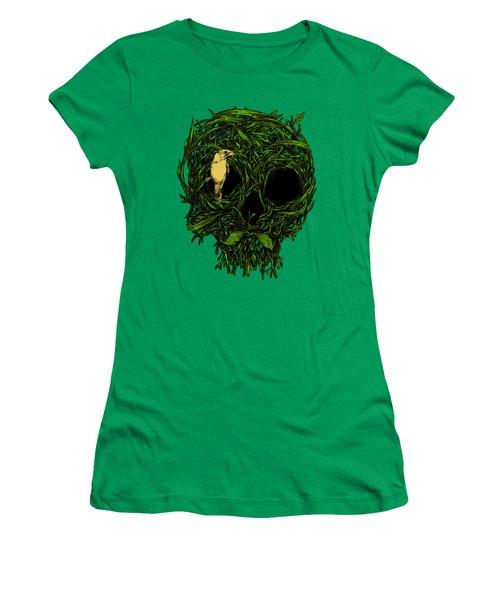 Skull Nest Women's T-Shirt (Junior Cut) by Carbine