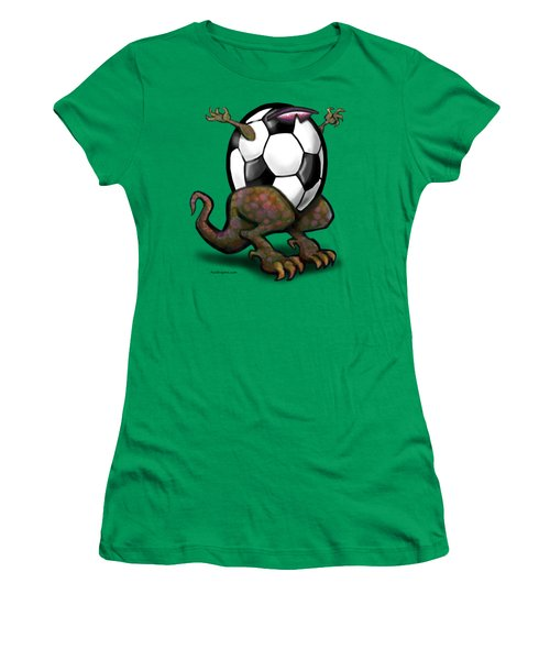 Soccer Zilla Women's T-Shirt (Junior Cut) by Kevin Middleton