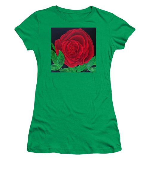 Solitary Red Rose Women's T-Shirt