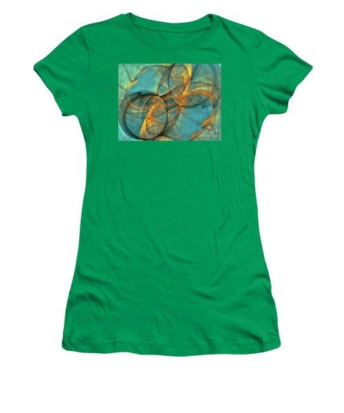 Women's T-Shirt (Junior Cut) featuring the digital art Soothing Blue by Deborah Benoit