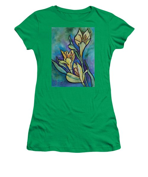 Stained Glass Flowers Women's T-Shirt