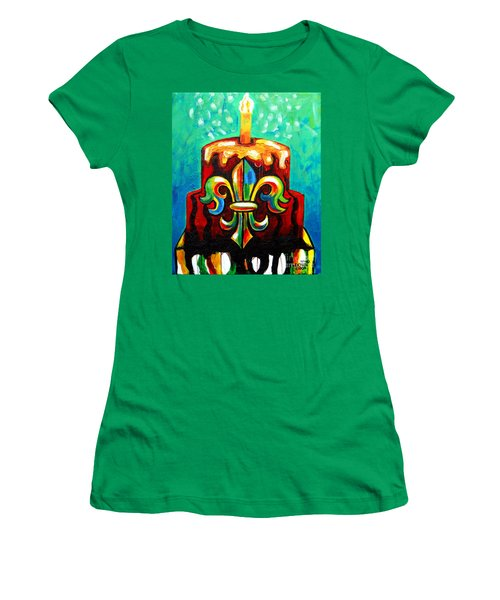 Stl250 Cakeway To The West Payne Gentry House Fleur De Lis Cake Women's T-Shirt (Junior Cut) by Genevieve Esson