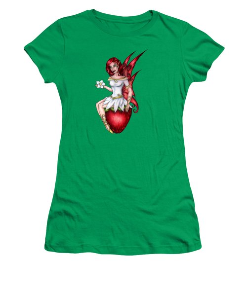 Strawberry Fairy Drawing Women's T-Shirt (Athletic Fit)