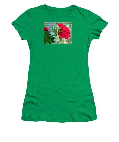 Stunning Red Geranium Women's T-Shirt (Junior Cut) by Will Borden