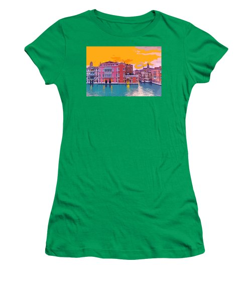 Sunset On The Grand Canal Venice Women's T-Shirt