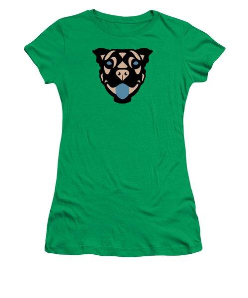 Terrier Terry - Dog Design - Greenery, Hazelnut, Niagara Blue Women's T-Shirt