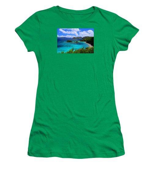 Thank You St. John Usvi Women's T-Shirt (Junior Cut) by Fiona Kennard