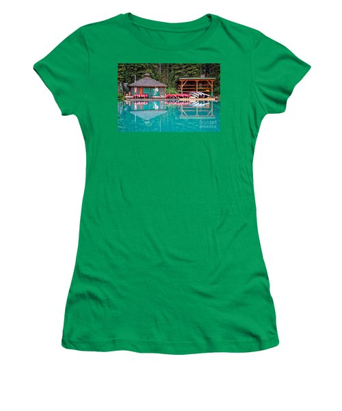 The Boat House At Emerald Lake In Yoho National Park Women's T-Shirt