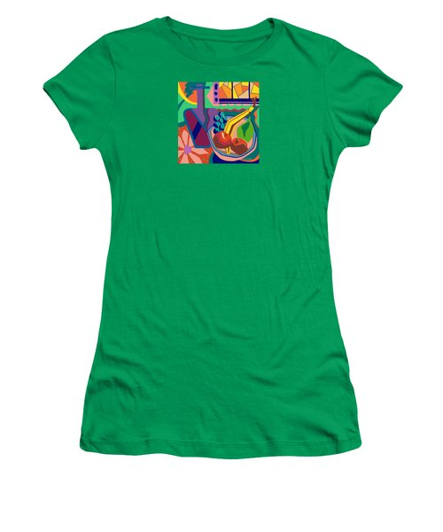 The Fruit Table Women's T-Shirt (Junior Cut) by Molly Williams