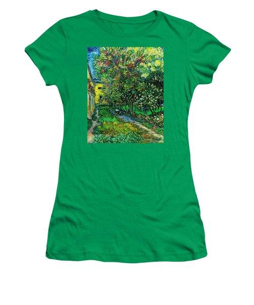 The Garden Of The Asylum At Saint-remy Women's T-Shirt