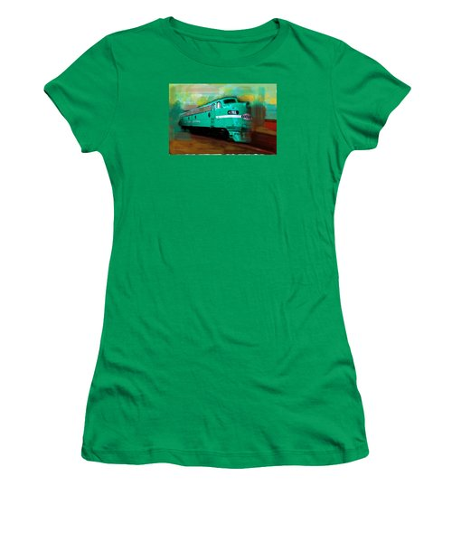 Flash II  The Ny Central 4083  Train  Women's T-Shirt (Junior Cut) by Iconic Images Art Gallery David Pucciarelli
