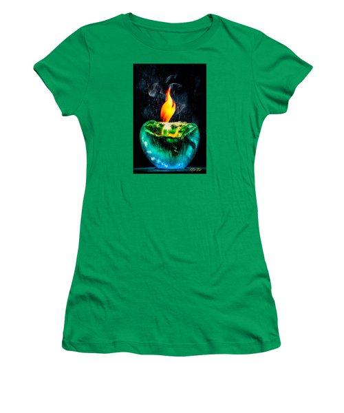 Women's T-Shirt (Junior Cut) featuring the photograph The Winter Of Fire And Ice by Rikk Flohr